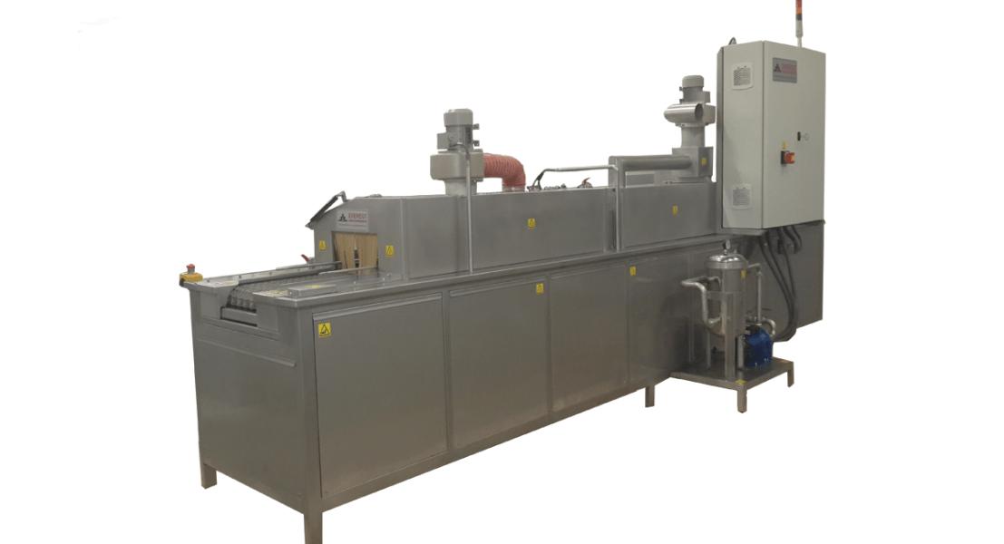 Lavadora industrial de tipo tunel para piezas 2