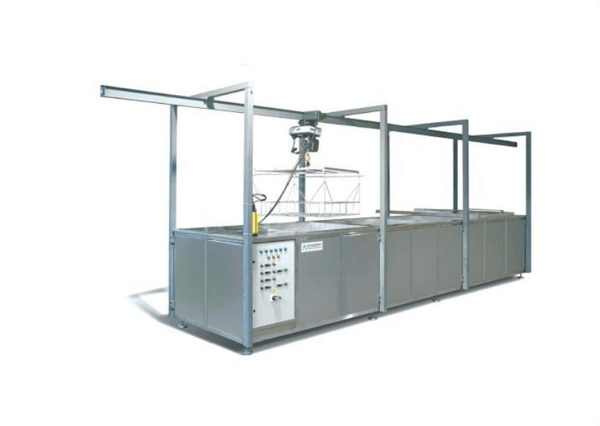 Lavadora industrial para carga de piezas con grua o polipasto 2