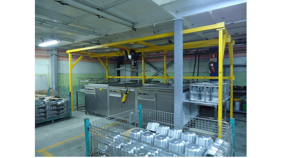 Lavadora industrial para carga de piezas con grua o polipasto 4