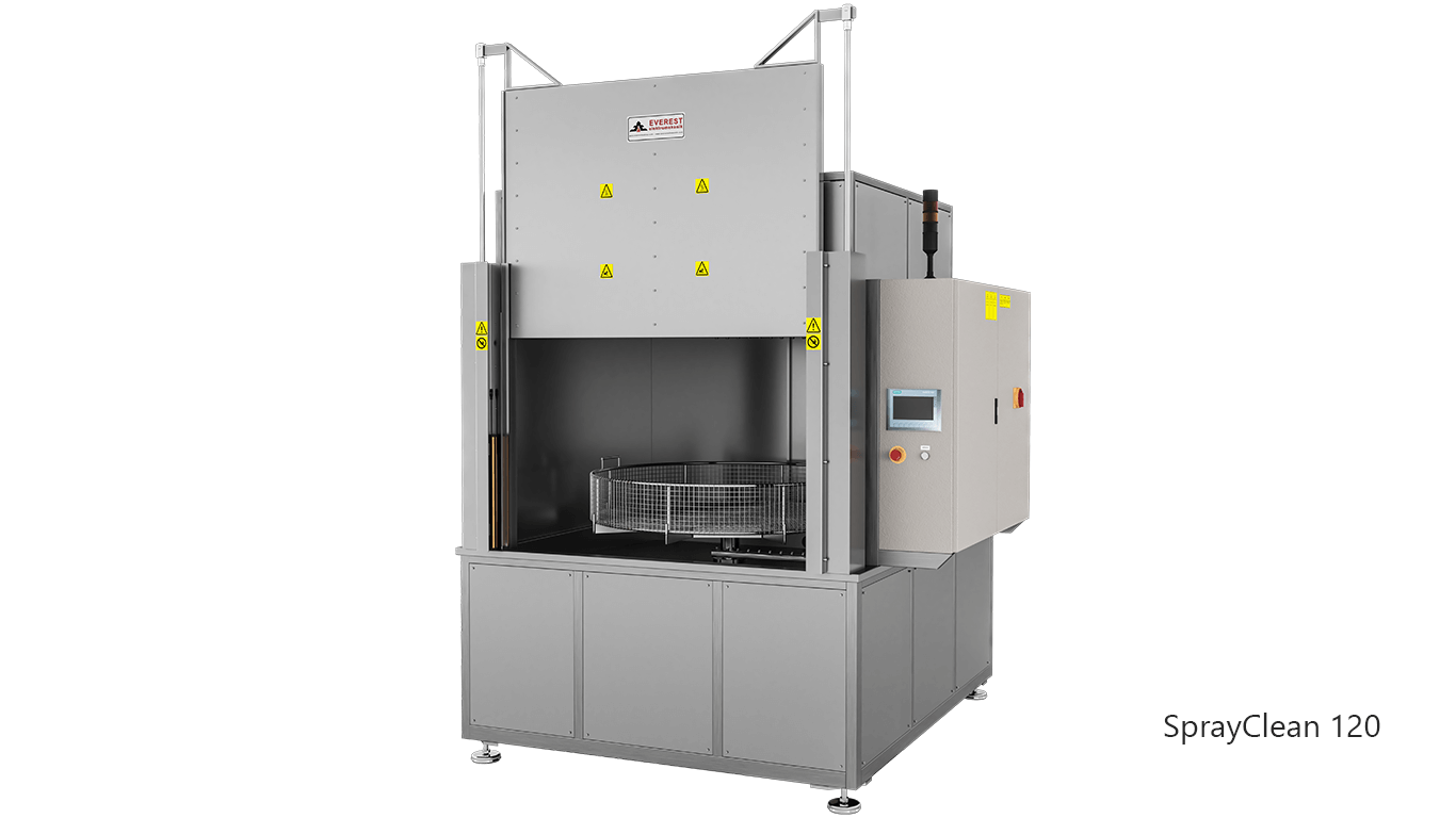 Lavadoras de piezas de cesta rotativa con agua a presión y detergente de carga frontal - SPRAYCLEAN 120