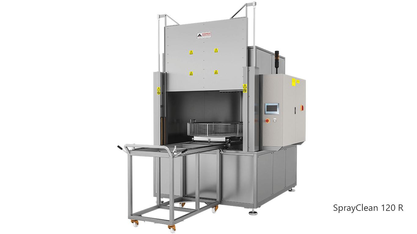 Lavadoras de piezas de cesta rotativa con agua a presión y detergente de carga frontal - SPRAYCLEAN 120R