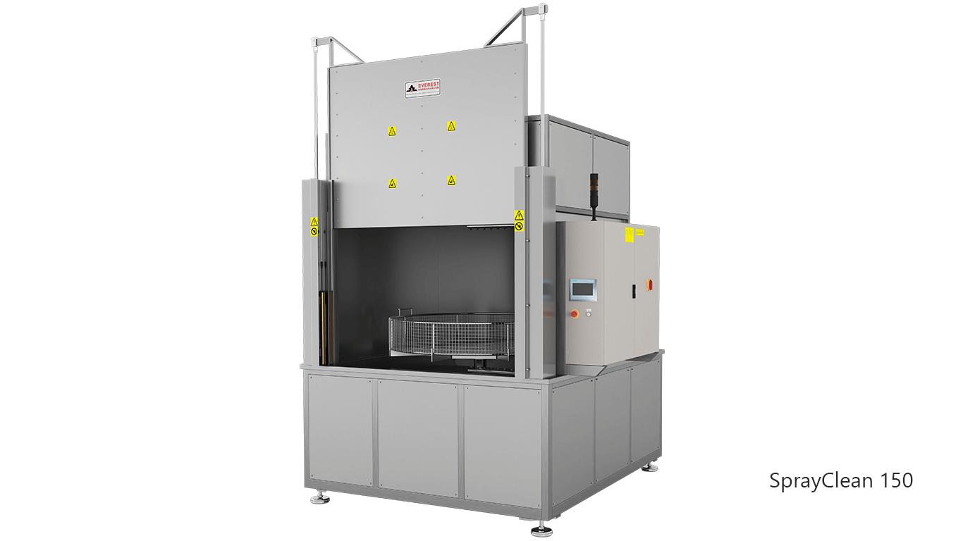 Lavadoras de piezas de cesta rotativa con agua a presión y detergente de carga frontal - SPRAYCLEAN 150