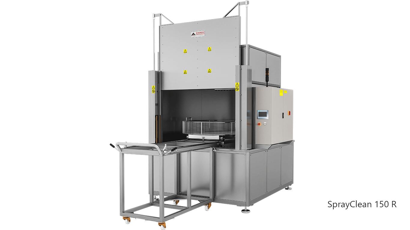 Lavadoras de piezas de cesta rotativa con agua a presión y detergente de carga frontal - SPRAYCLEAN 150R
