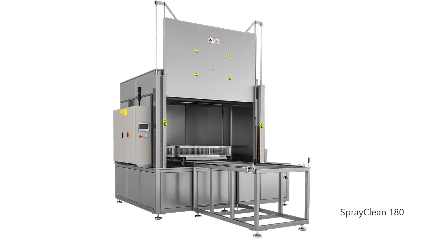 Lavadoras de piezas de cesta rotativa con agua a presión y detergente de carga frontal - SPRAYCLEAN 180