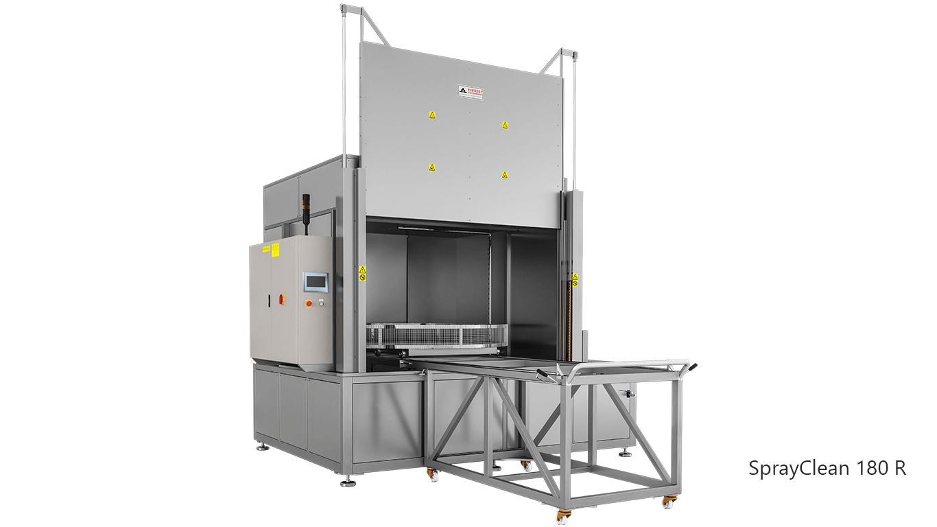 Lavadoras de piezas de cesta rotativa con agua a presión y detergente de carga frontal - SPRAYCLEAN 180R