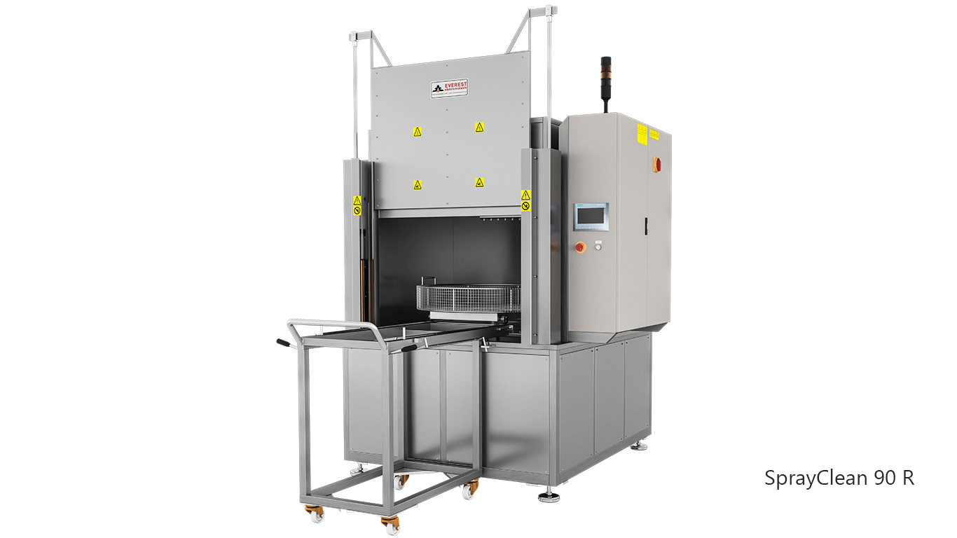 Lavadoras de piezas de cesta rotativa con agua a presión y detergente de carga frontal - SPRAYCLEAN 90R