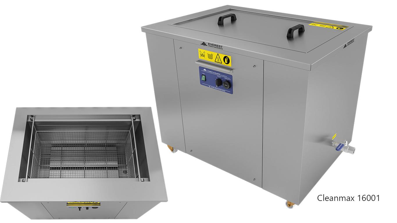 Lavadoras monocuba para limpieza de piezas por ultrasonidos - CLEANMAX 16001