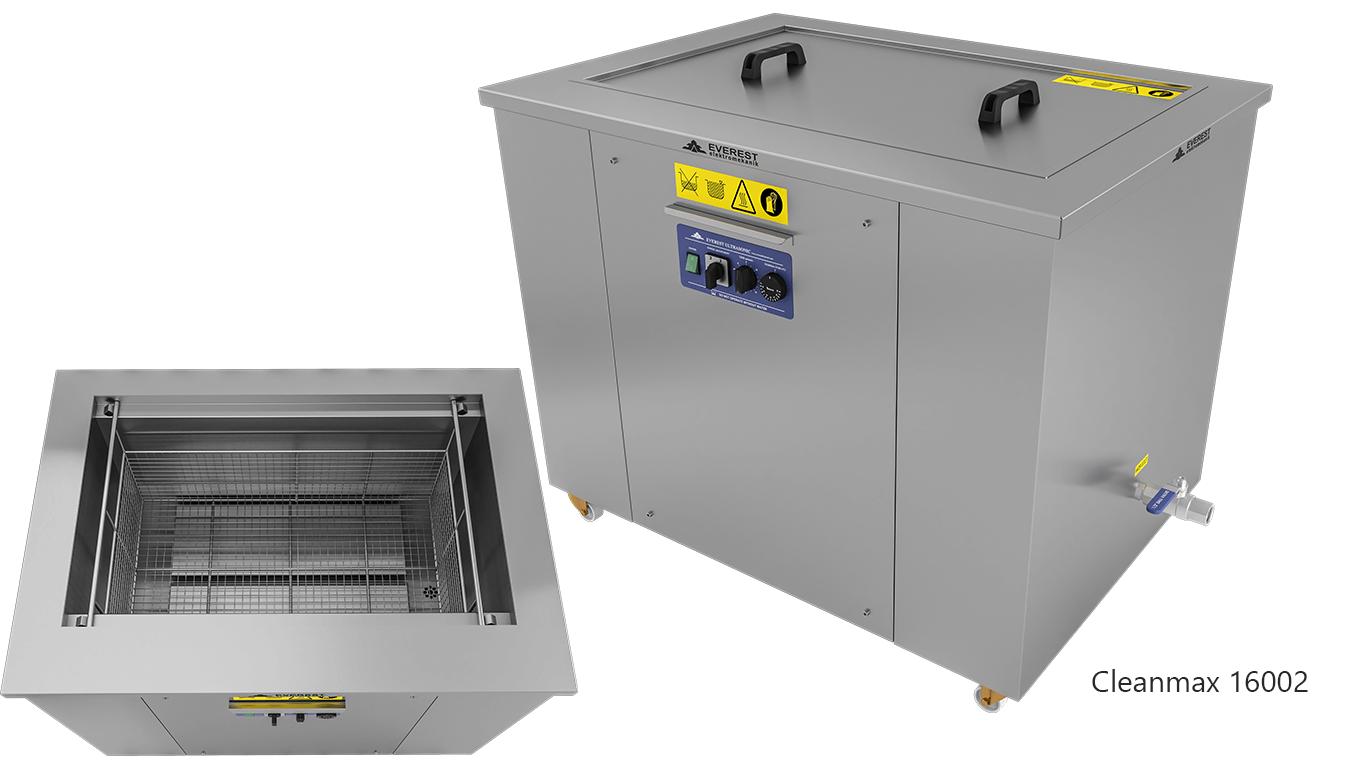 Lavadoras monocuba para limpieza de piezas por ultrasonidos - CLEANMAX 16002