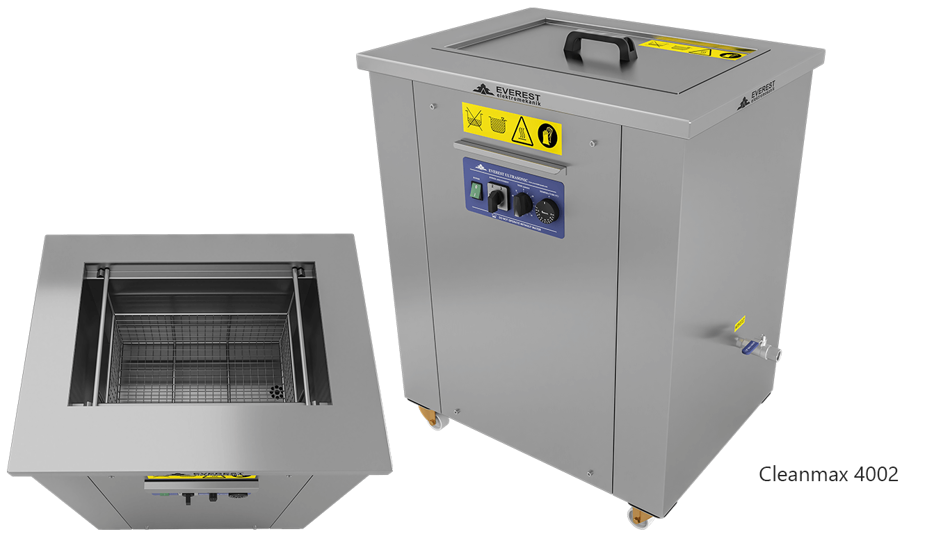 Lavadoras monocuba para limpieza de piezas por ultrasonidos - CLEANMAX 4002