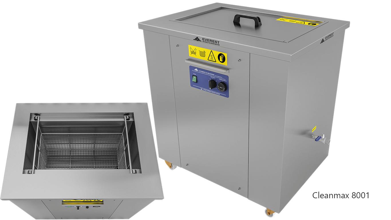 Lavadoras monocuba para limpieza de piezas por ultrasonidos - CLEANMAX 8001