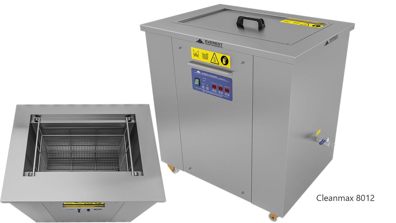 Lavadoras monocuba para limpieza de piezas por ultrasonidos - CLEANMAX 8012