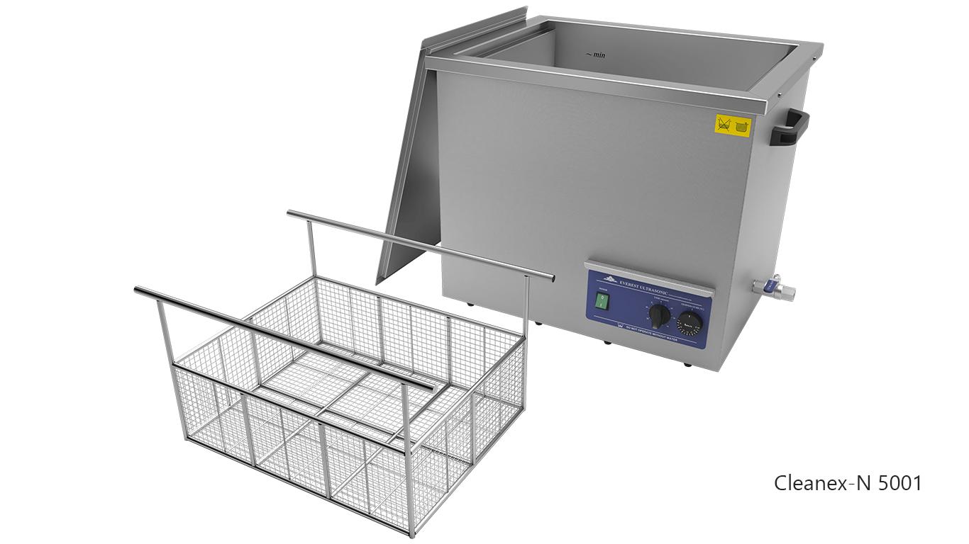 Máquinas de limpieza de piezas por ultrasonidos de sobremesa o portátiles - CLEANEX-N 5001