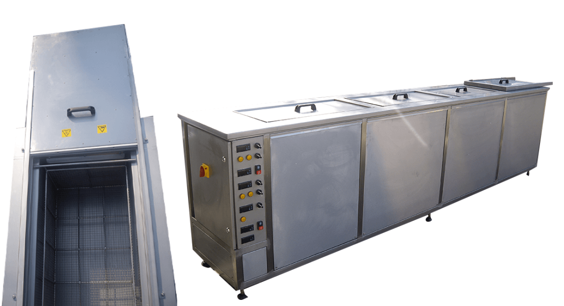 Máquinas de limpieza y lavadoras industriales de piezas multietapa con cubas por ultrasonidos - MULTICLEAN 6