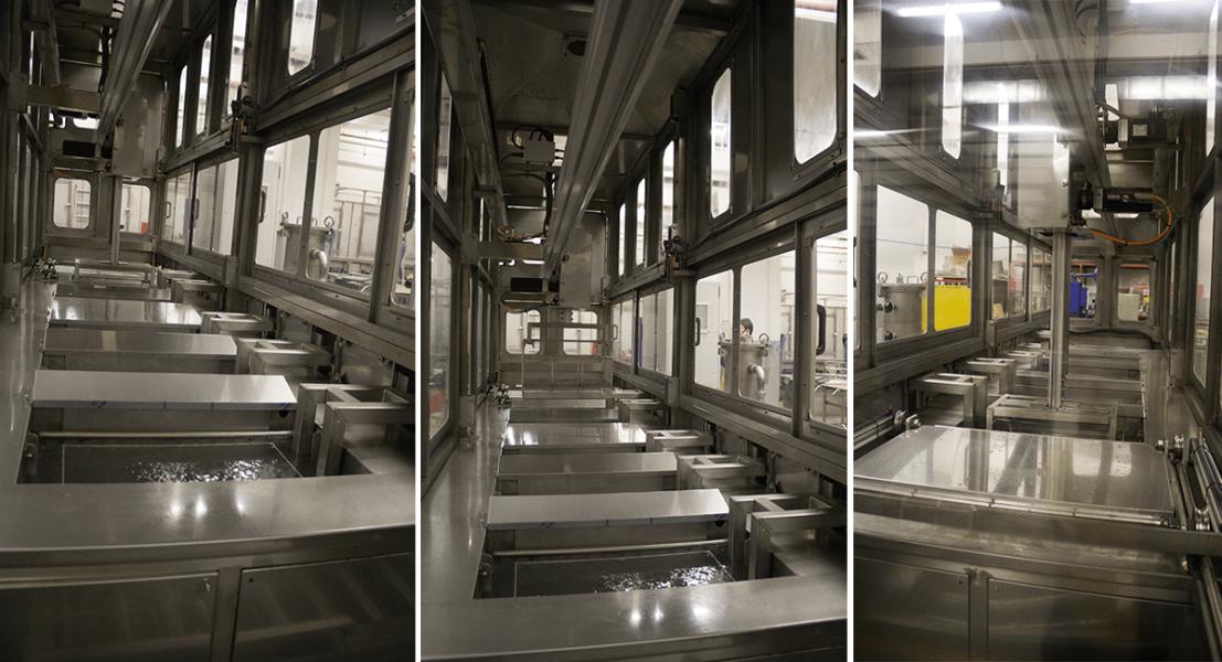 Máquinas de limpieza y lavadoras industriales de piezas multietapa con sistema automático de manipulación 3