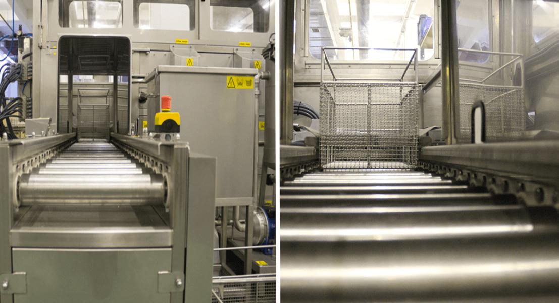 Máquinas de limpieza y lavadoras industriales de piezas multietapa con sistema automático de manipulación 4