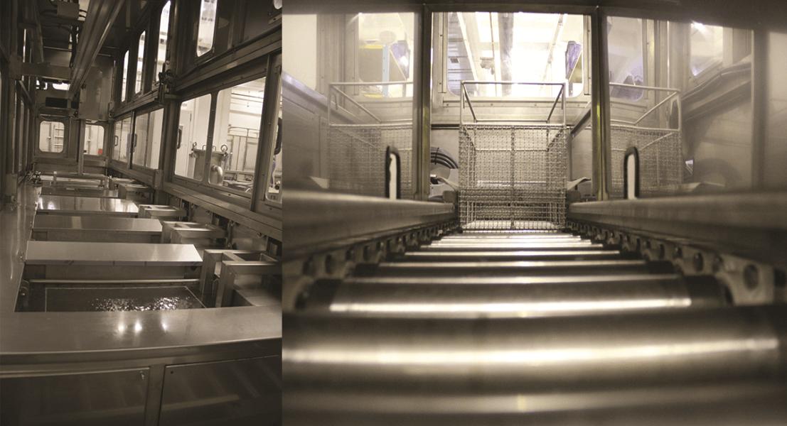 Máquinas de limpieza y lavadoras industriales de piezas multietapa con sistema automático de manipulación 7