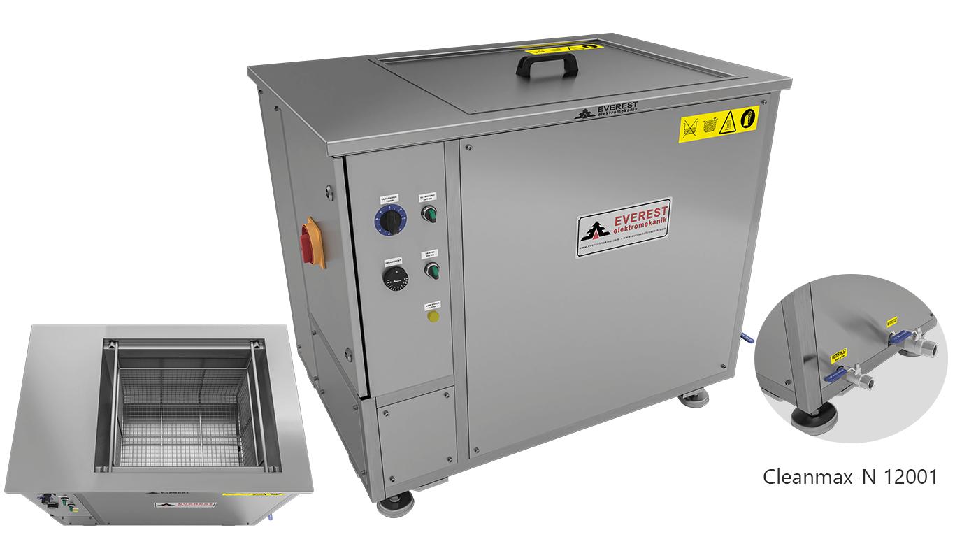 Máquinas de limpieza y lavadoras monocuba para limpieza de piezas por inmersión con ultrasonidos - CLEANMAX-N 12001