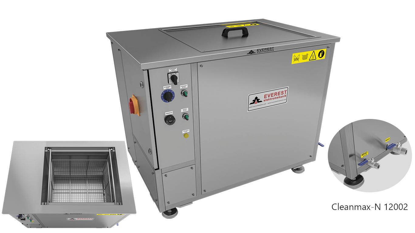Máquinas de limpieza y lavadoras monocuba para limpieza de piezas por inmersión con ultrasonidos - CLEANMAX-N 12002