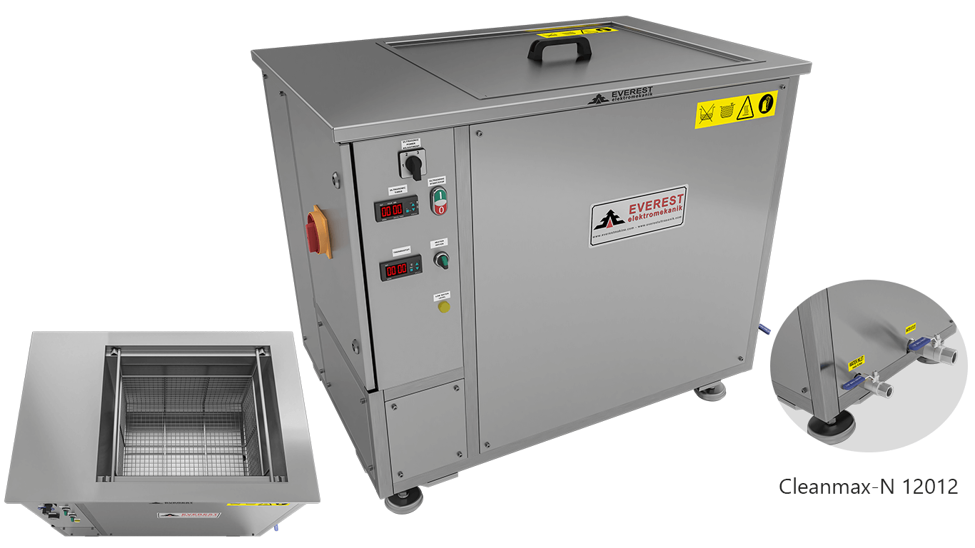 Máquinas de limpieza y lavadoras monocuba para limpieza de piezas por inmersión con ultrasonidos - CLEANMAX-N 12012