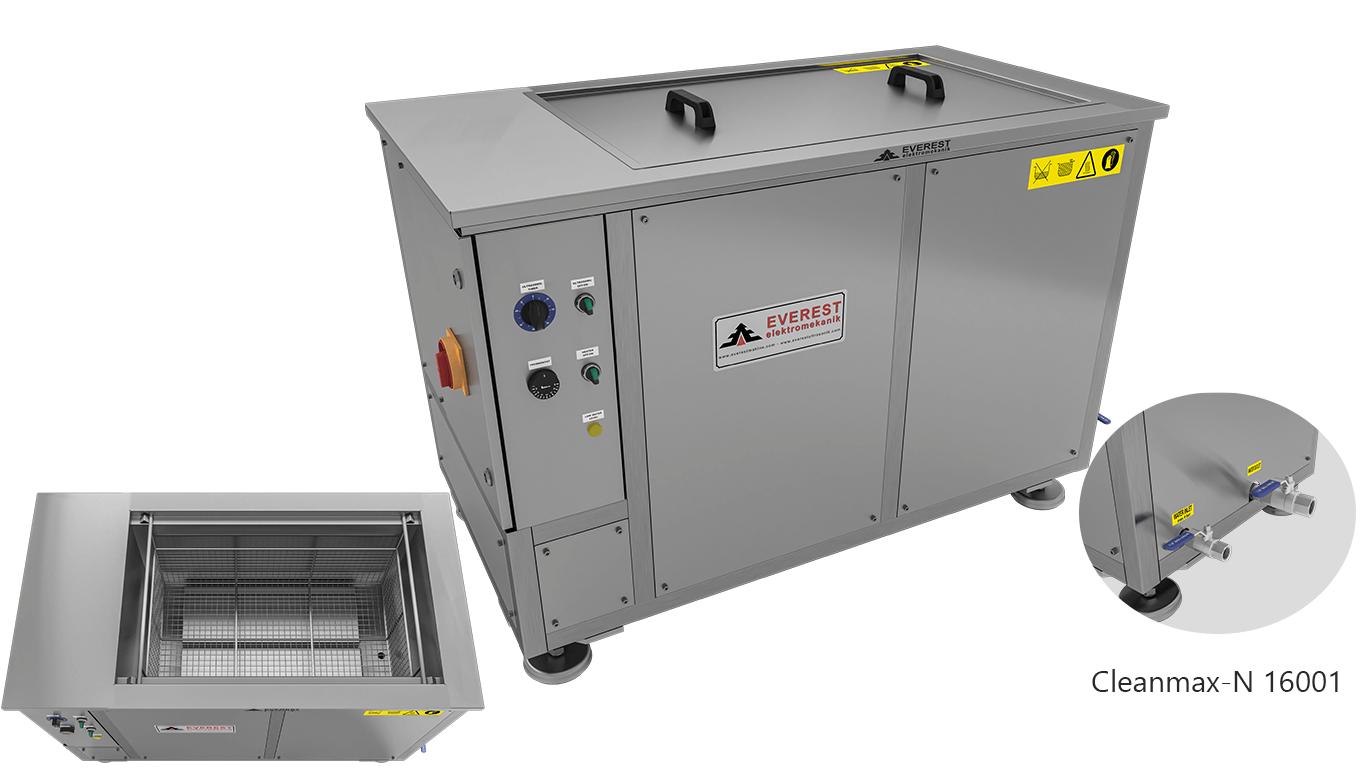 Máquinas de limpieza y lavadoras monocuba para limpieza de piezas por inmersión con ultrasonidos - CLEANMAX-N 16001
