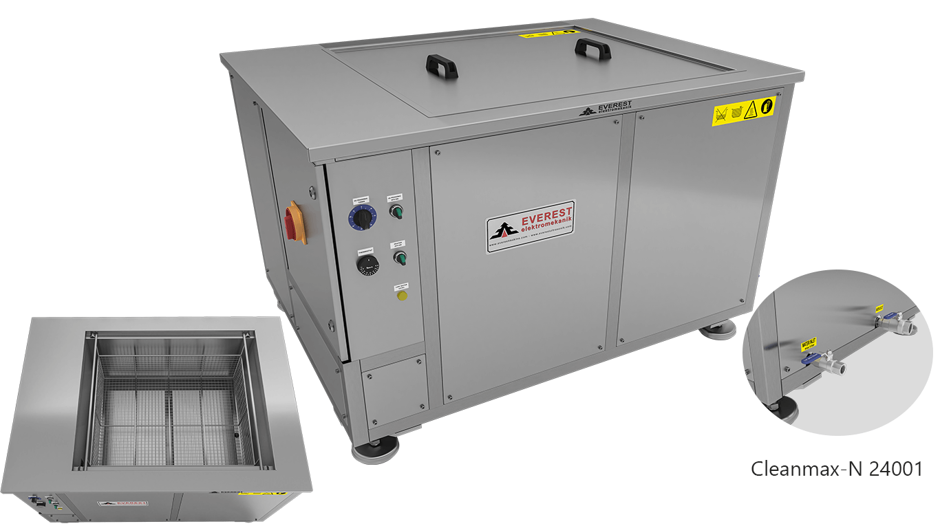 Máquinas de limpieza y lavadoras monocuba para limpieza de piezas por inmersión con ultrasonidos - CLEANMAX-N 24001