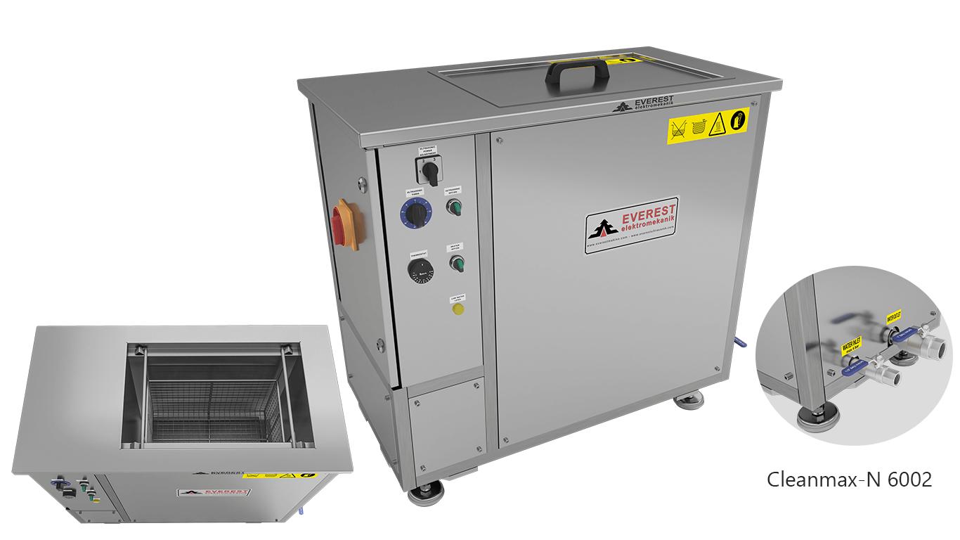 Máquinas de limpieza y lavadoras monocuba para limpieza de piezas por inmersión con ultrasonidos - CLEANMAX-N 6002