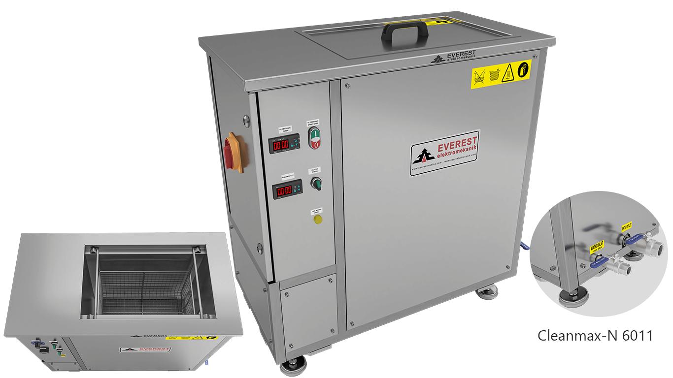 Máquinas de limpieza y lavadoras monocuba para limpieza de piezas por inmersión con ultrasonidos - CLEANMAX-N 6011