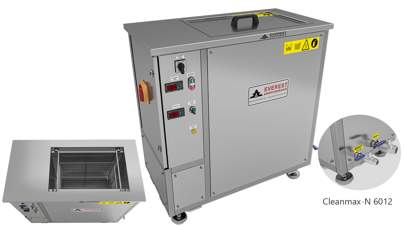 Máquinas de limpieza y lavadoras monocuba para limpieza de piezas por inmersión con ultrasonidos - CLEANMAX-N 6012