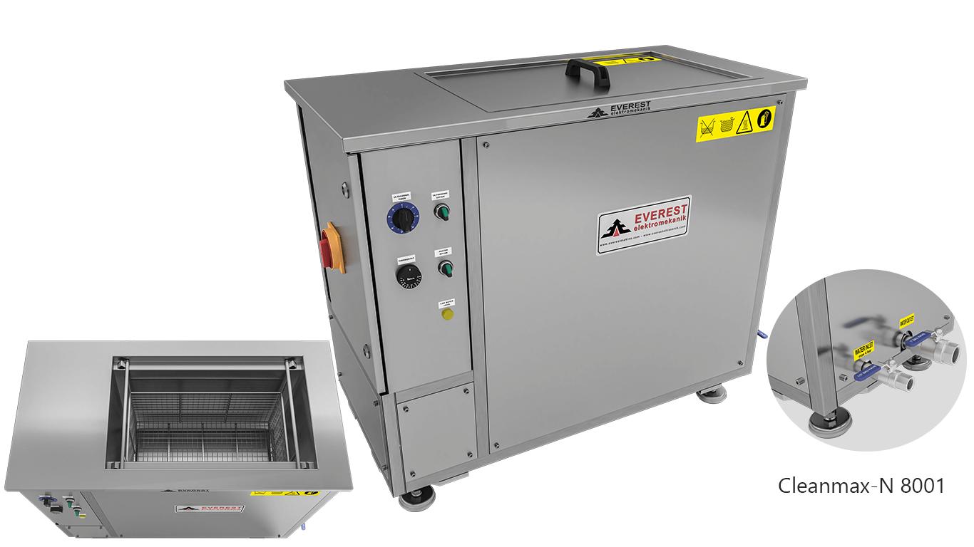 Máquinas de limpieza y lavadoras monocuba para limpieza de piezas por inmersión con ultrasonidos - CLEANMAX-N 8001