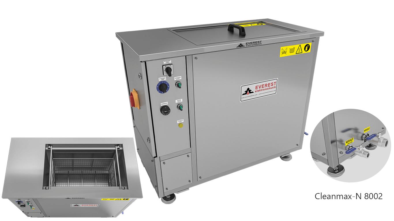 Máquinas de limpieza y lavadoras monocuba para limpieza de piezas por inmersión con ultrasonidos - CLEANMAX-N 8002