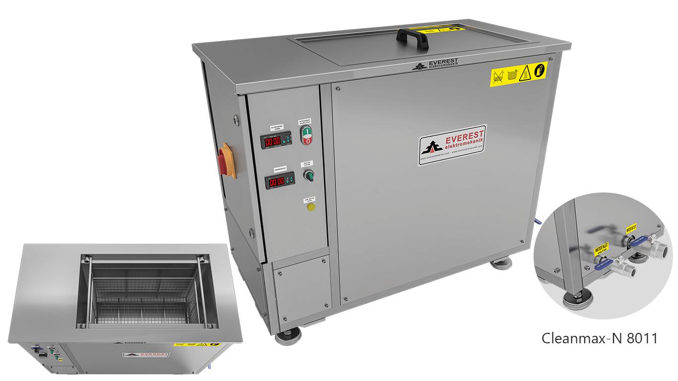 Máquinas de limpieza y lavadoras monocuba para limpieza de piezas por inmersión con ultrasonidos - CLEANMAX-N 8011
