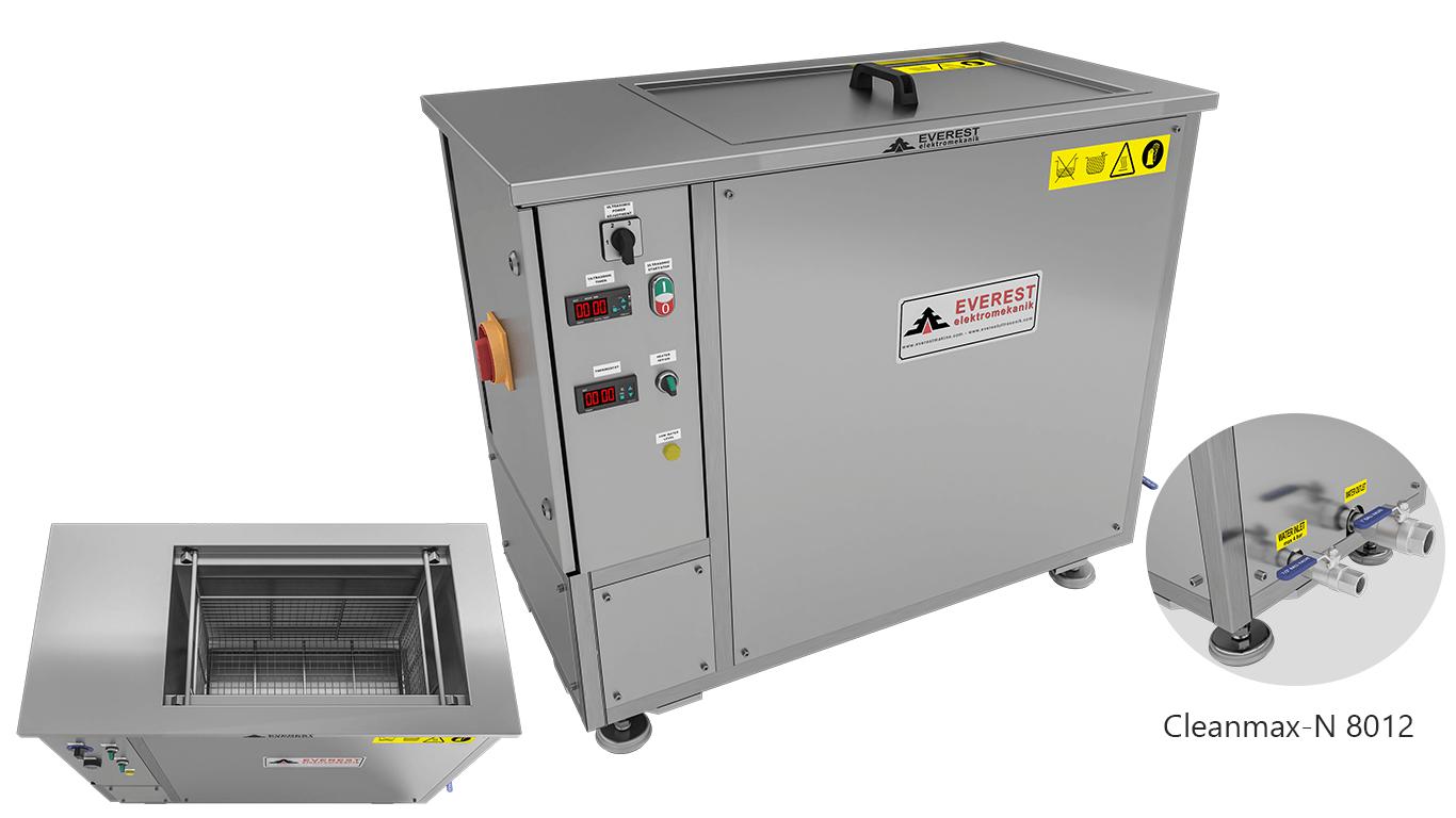 Máquinas de limpieza y lavadoras monocuba para limpieza de piezas por inmersión con ultrasonidos - CLEANMAX-N 8012