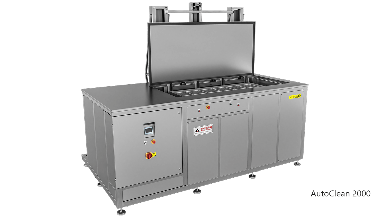 Máquinas de limpieza y lavadoras por ultrasonidos para limpieza de piezas y motores en talleres mecánicos de coches - AUTOCLEAN 2000